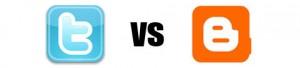 Twitter vs Blogger